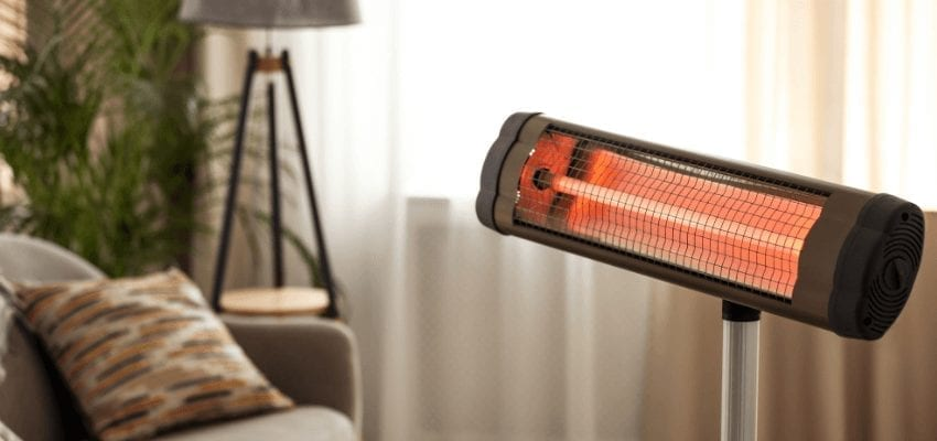 Example of infrared heater at home