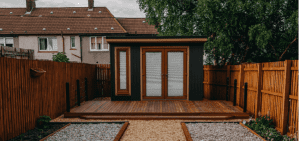 garden room with infrared heating