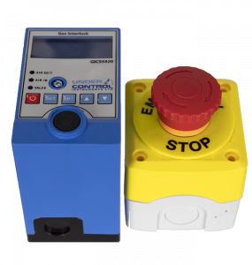 gas interlock and stop button clear